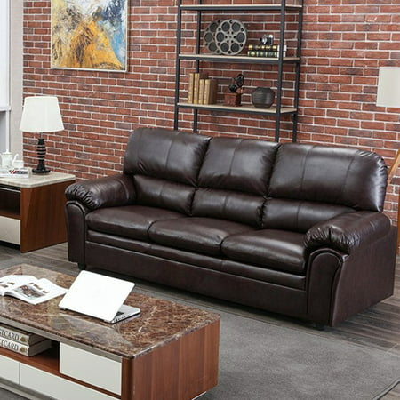 Sofa Sleeper Sofa Leather Couch Sofa Contemporary Sofa Couch For Living Room Furniture 3 Seat Modern Futon ()