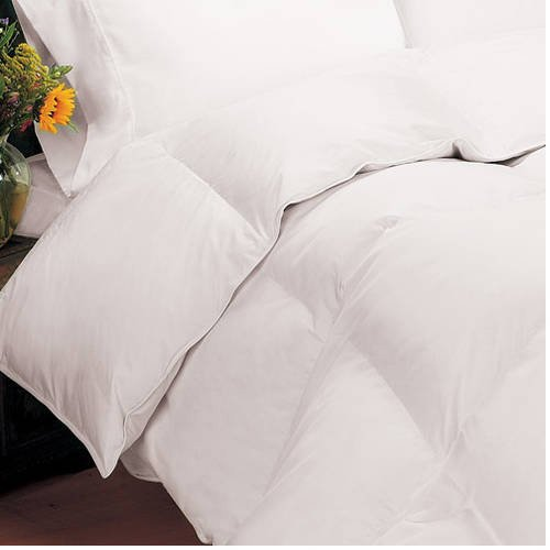 Sateen 400 Thread Count Down Comforter, Light Warmth, White