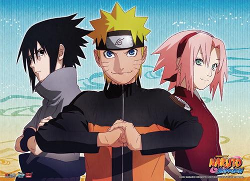 Wall Scroll - Naruto Shippuden - Naruto, Sasuke & Sakura Key Art ...