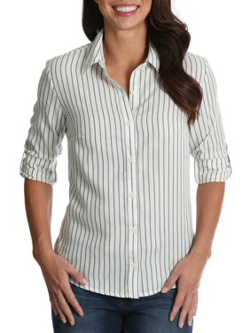 Women's Striped Woven Shirt