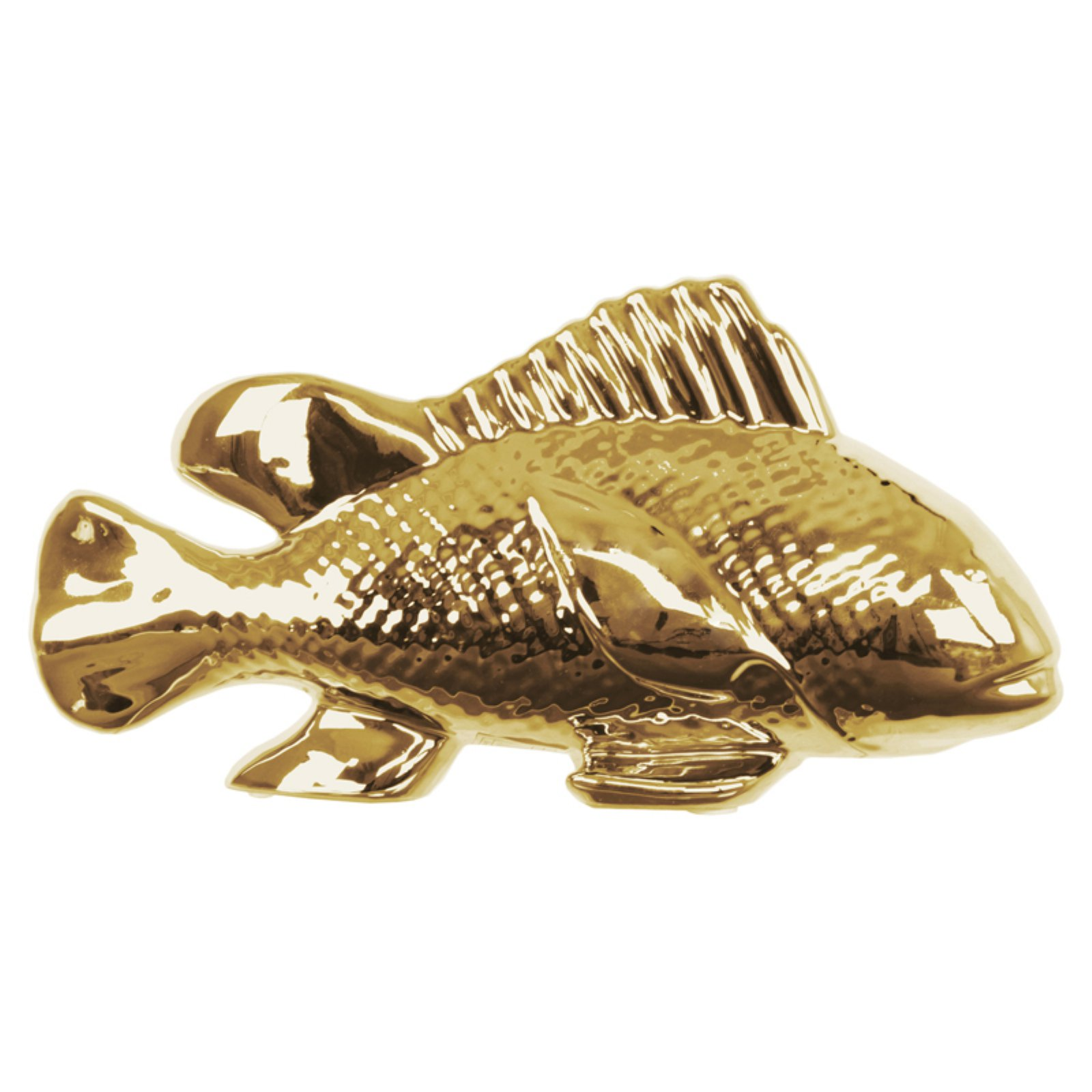 Urban Trends Collection: Ceramic Fish Figurine, Gloss Finish, White