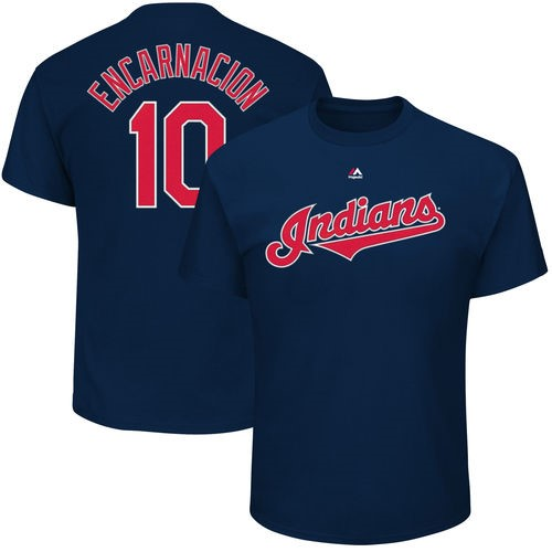 Edwin Encarnacion Cleveland Indians Majestic Big & Tall Player Name & Number T-Shirt - Navy