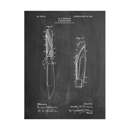 - Folding Hunting Knife 1902 Patent Print Wall Art By Cole Borders