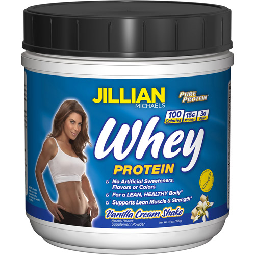 Jillian Michael Natural Whey Protein Powder, Vanilla, 14 oz
