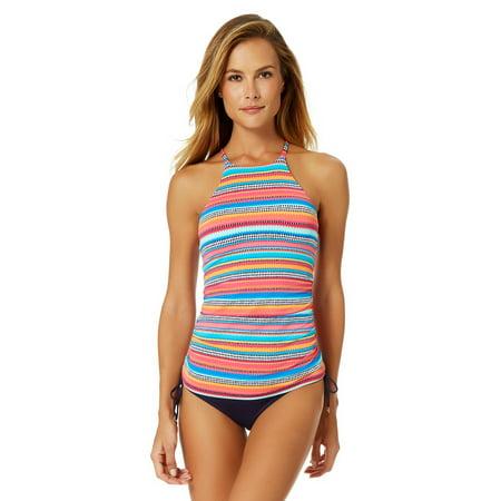 d2954b25eb32e Anne Cole - Anne Cole Women s Triangle Stripe High Neck Halter Tankini Swim  Top - Walmart.com