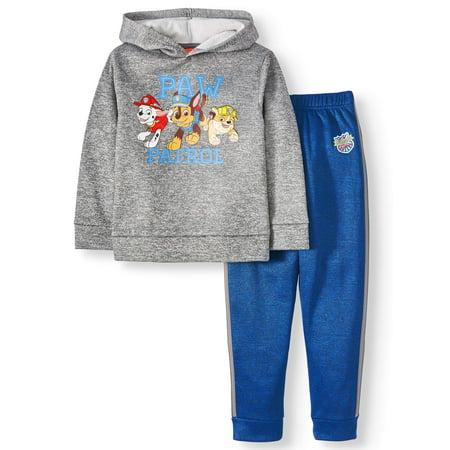 Paw Patrol Hoodie Sweatshirt & Jogger Sweatpants, 2-Piece Outfit Set, Sizes 4-7 Paw Print Clothes