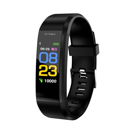 Lectrique Fitness Tracker, Sleep Monitor, Heart Rate Monitor, Pedometer Watch, Alarm, Receive Phone Notifications and Reminders for iPhone and Android