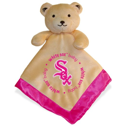 Baby Fanatic Pink Trimmed Snuggle Bear  Chicago Wh
