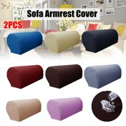 2Pcs Waterproof Premium Armrest Covers Stretch Furniture Slipcovers Sofa Chair Couch Chair Arm Protectors