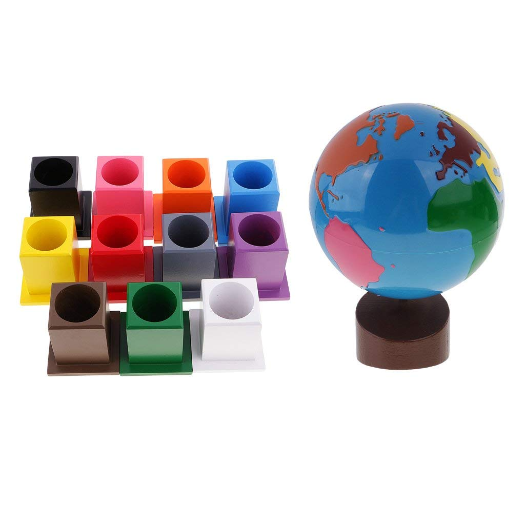 Homyl Geography Globe of Worlds+11 Colored Pencil Holders Container for Kids Toys by
