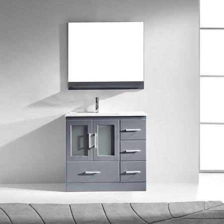 Virtu Usa  Zola 36 Inch Single Bathroom Vanity Cabinet Set In Grey