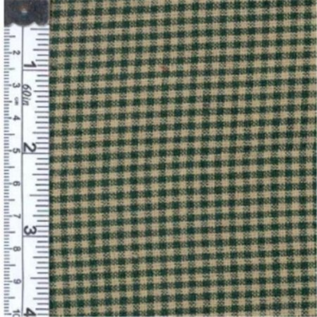 Textile Creations 125 Rustic Woven Fabric, 0.12 Check Green And Natural, 15 yd. ()