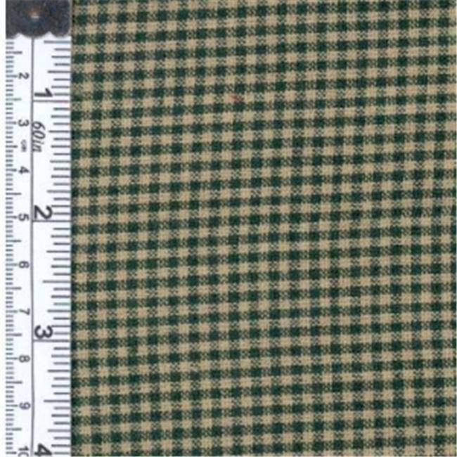 Textile Creations 125 Rustic Woven Fabric, 0.12 Check Green And Natural, 15 yd.