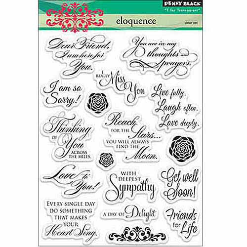 Penny Black Clear Stamps 5 Inch X 6.5 Inch Sheet-Eloquence