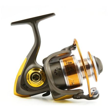 8BB 5.2:1 Foldable Spinning Reels Metal Left/Right Fishing Reel JC4000 - image 4 de 8