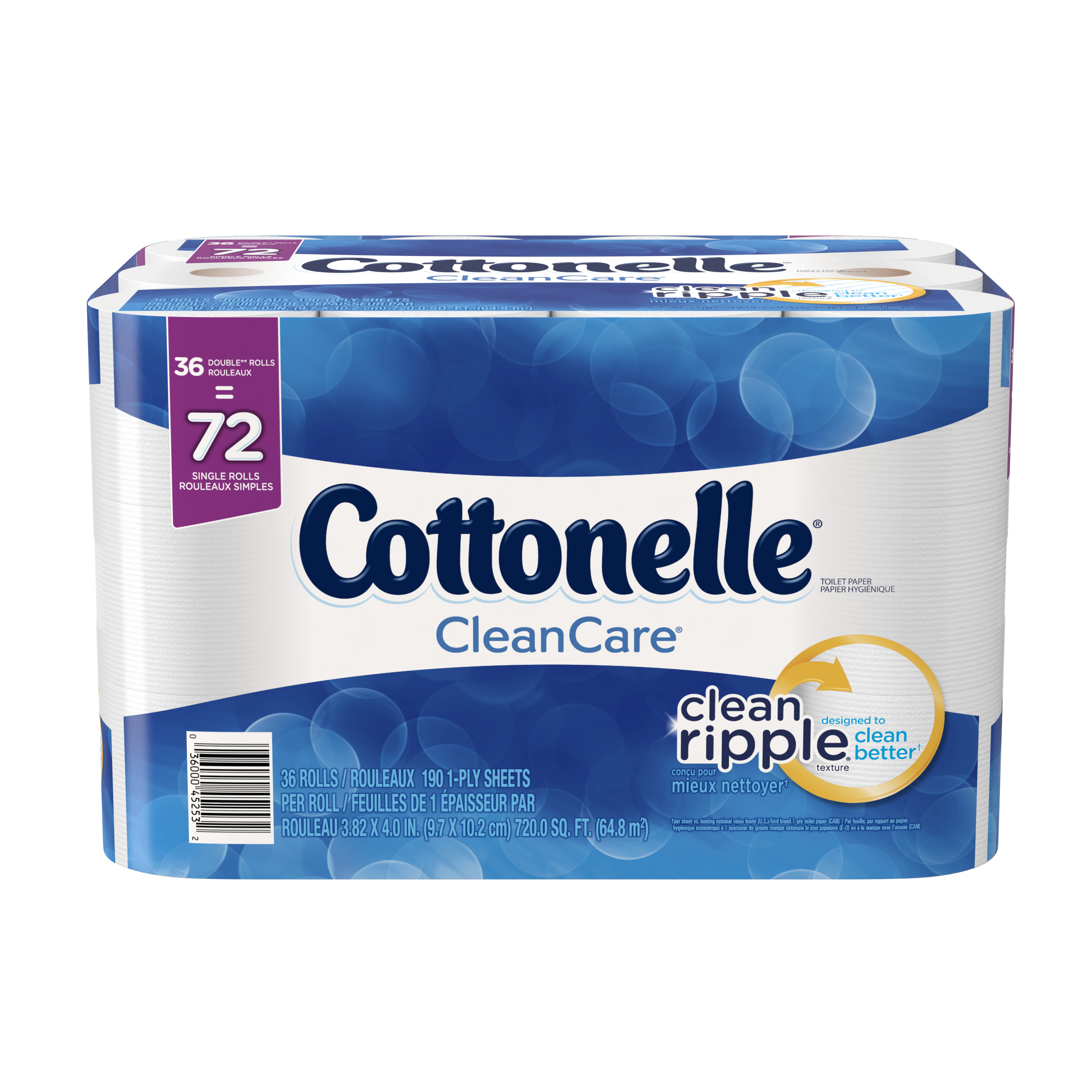 Cottonelle Clean Care Double Roll Toilet Paper, 190 sHeets, 36 rolls by Kimberly-Clark Global Sales, LLC / Kimberly-Clark Corp.