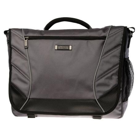 Kenneth Cole Reaction Canvas 17 inch Laptop Bag Shoulder Messenger Bag Unisex for School & Office