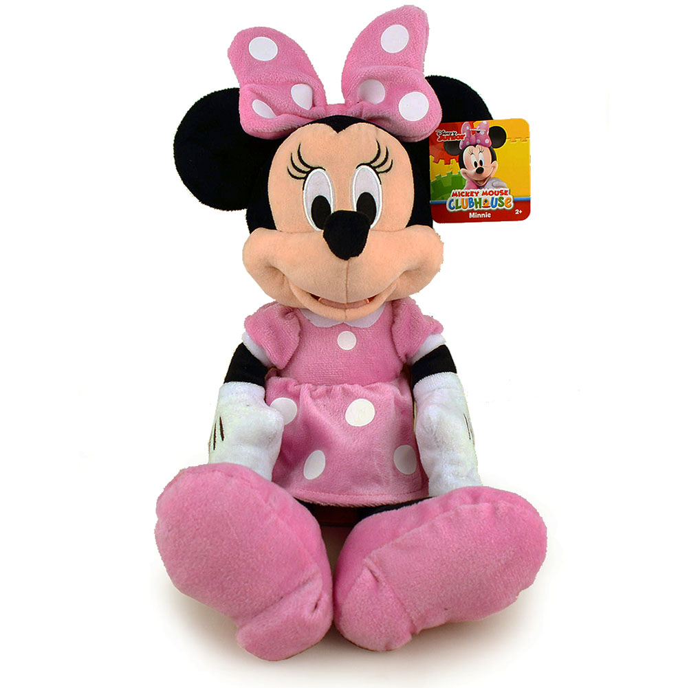 Disney Mickey Mouse Clubhouse Minnie Mouse Plush Pink Polka Dot Dress by Just Play