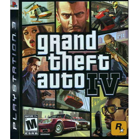 Grand Theft Auto IV, Rockstar Games, PlayStation 3, 710425370113 (Gta Cake)