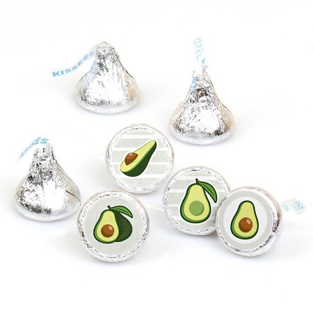 Alligator Party Favors - Hello Avocado - Fiesta Party Round Candy Sticker Favors - Labels Fit Hershey's Kisses (1 sheet of 108)