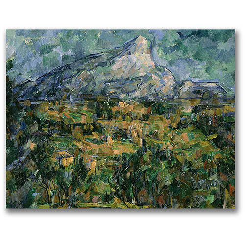 "Trademark Fine Art ""Mont Sainte-Victoire"" Canvas Wall Art by Paul Cezanne"
