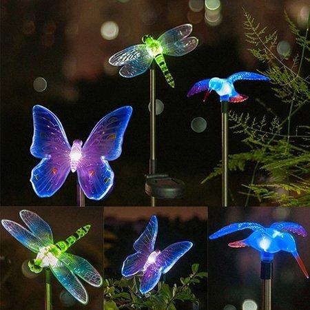 Obstce Solar LED Light Outdoor Path Garden Yard Lawn Landscape Spotlight Spot Lamp