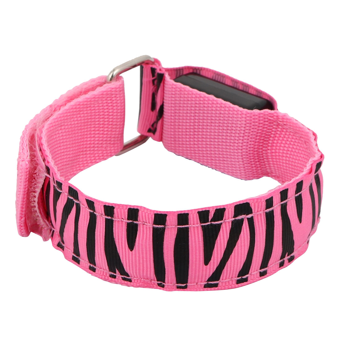 Unique Bargains Sport Running Safety Pink LED Zebra-striped Arm Band Wristband Light Up Armband - image 4 de 4