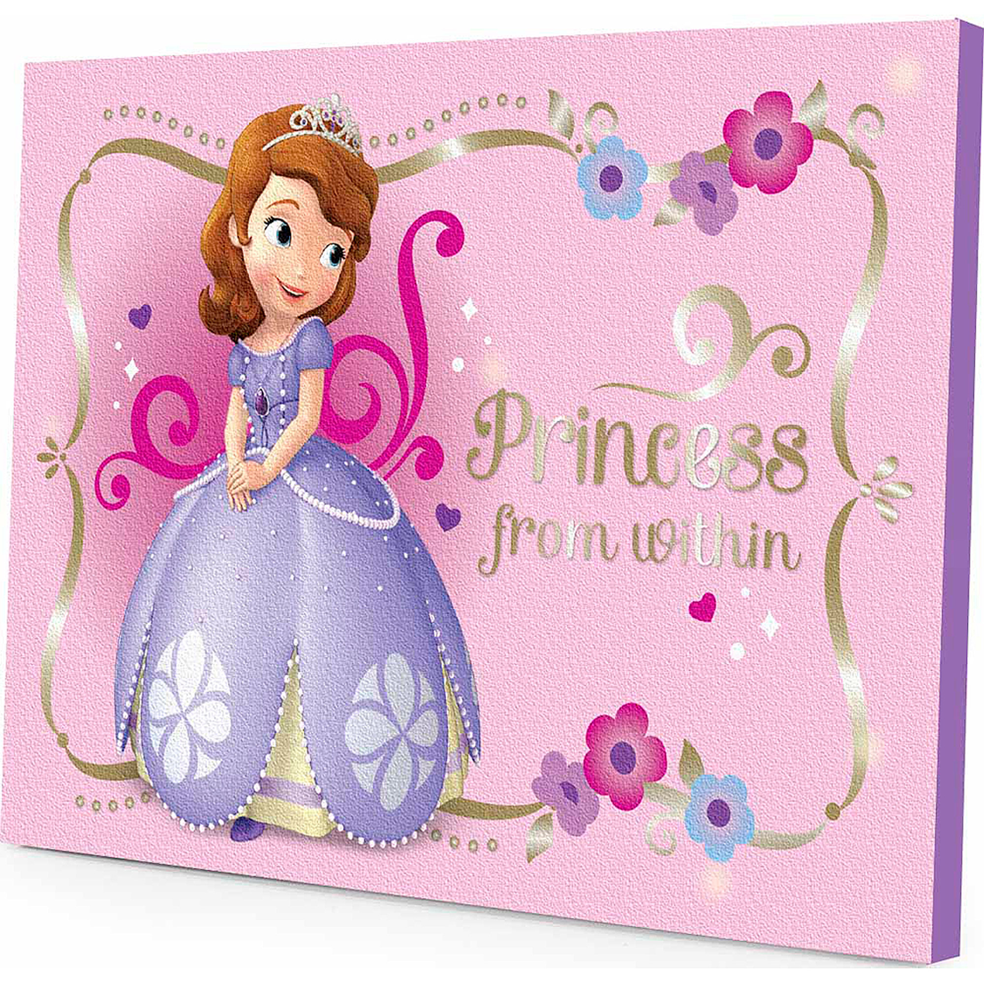 Disney Sofia the First LED Light Up Canvas Wall Art