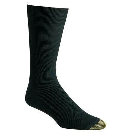 Men's Gold Toe Dress Nylon Light Metropolitan Crew Sock Bumble Bee Nylon Soccer Sock