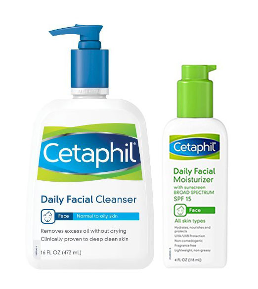 Cetaphil Daily Essentials Bundle: Face Moisturizer and Cleanser