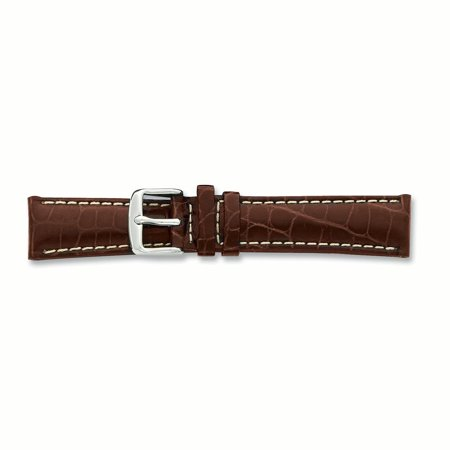 24mm Brown Croc Wht Stitch Slvr Tone Bkle Watch Band Debeer Paris Fashion Jewelry Ideal Gifts For Women Gift Set From Heart