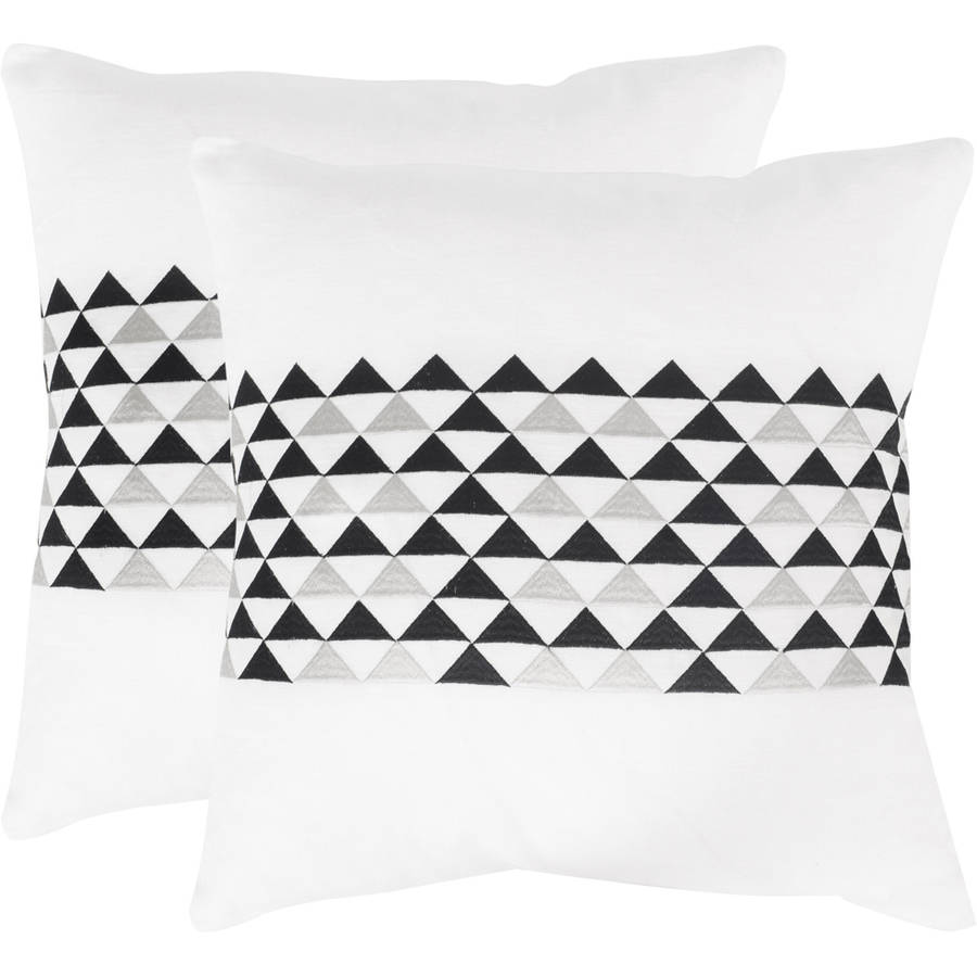 Safavieh Geo Mountain Pillow, Multiple Colors, Set of 2