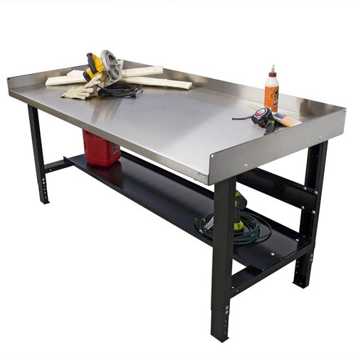 Borroughs Adjustable Height Stainless Steel Top Workbench by