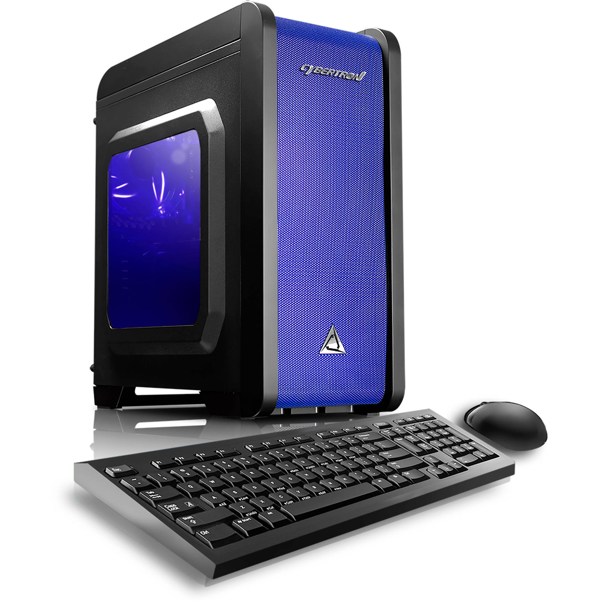 CybertronPC Blue Electrum RX - 470M Gaming Desktop PC with AMD FX - 6350 Processor, 8GB Memory, 1TB Hard Drive and Windows 10 Home (Monitor Not Included)
