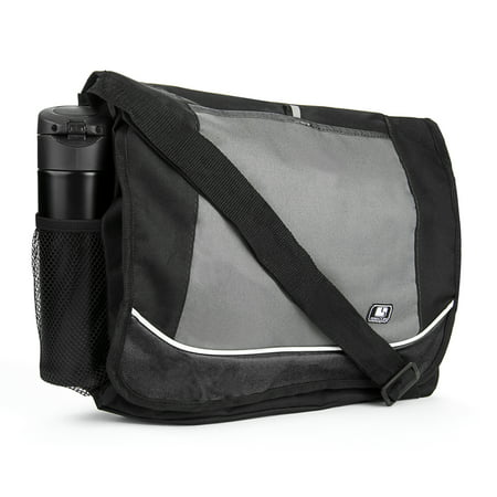 Universal Multi-purpose Canvas Messenger Shoulder Bag fits 15, 15.6, 16 inch Laptops / Notebooks /