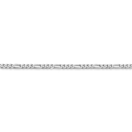 14K White Gold 2.4mm Flat Figaro Chain - image 1 de 5