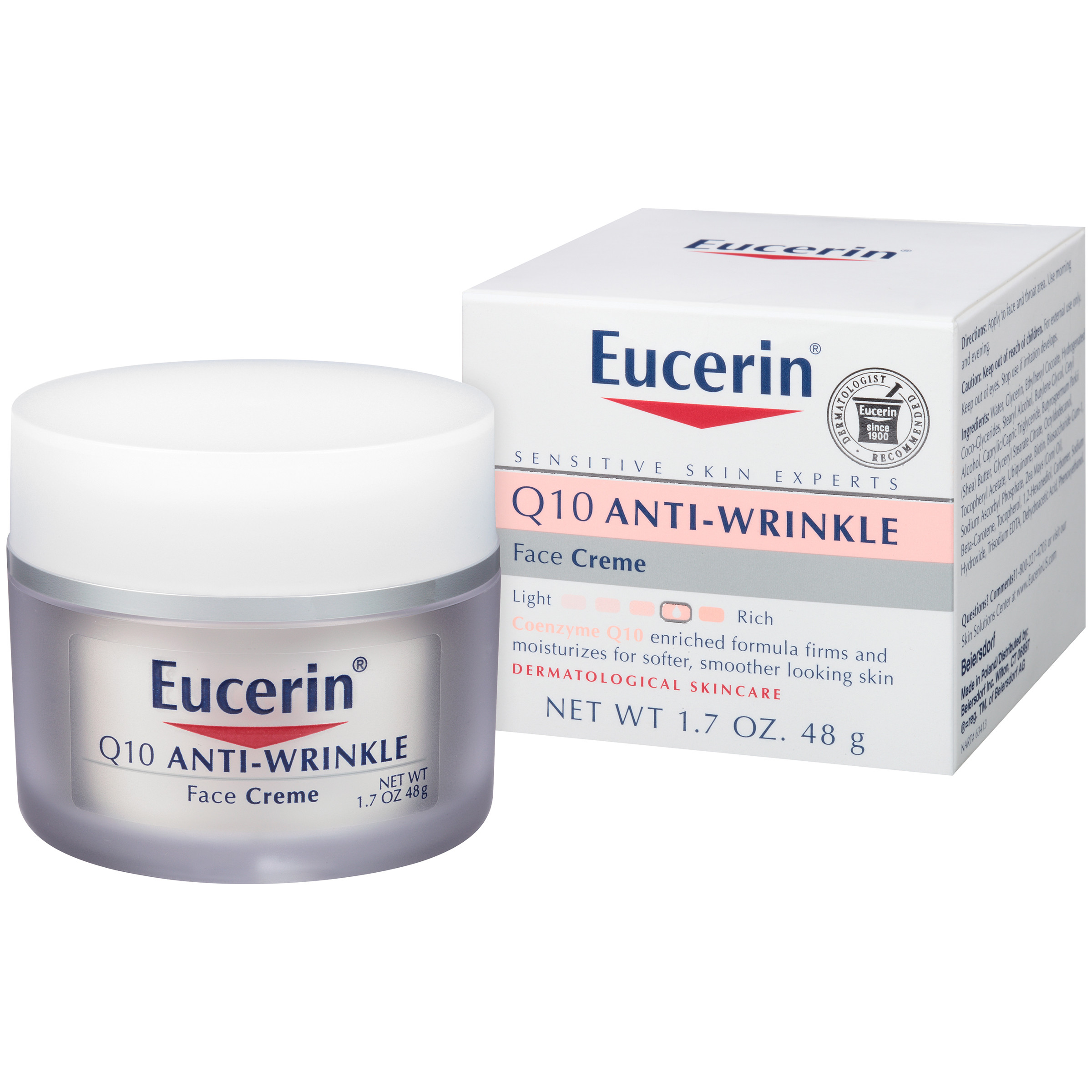 Eucerin Q10 Anti-Wrinkle Sensitive Skin Face Creme, 1.7 oz.