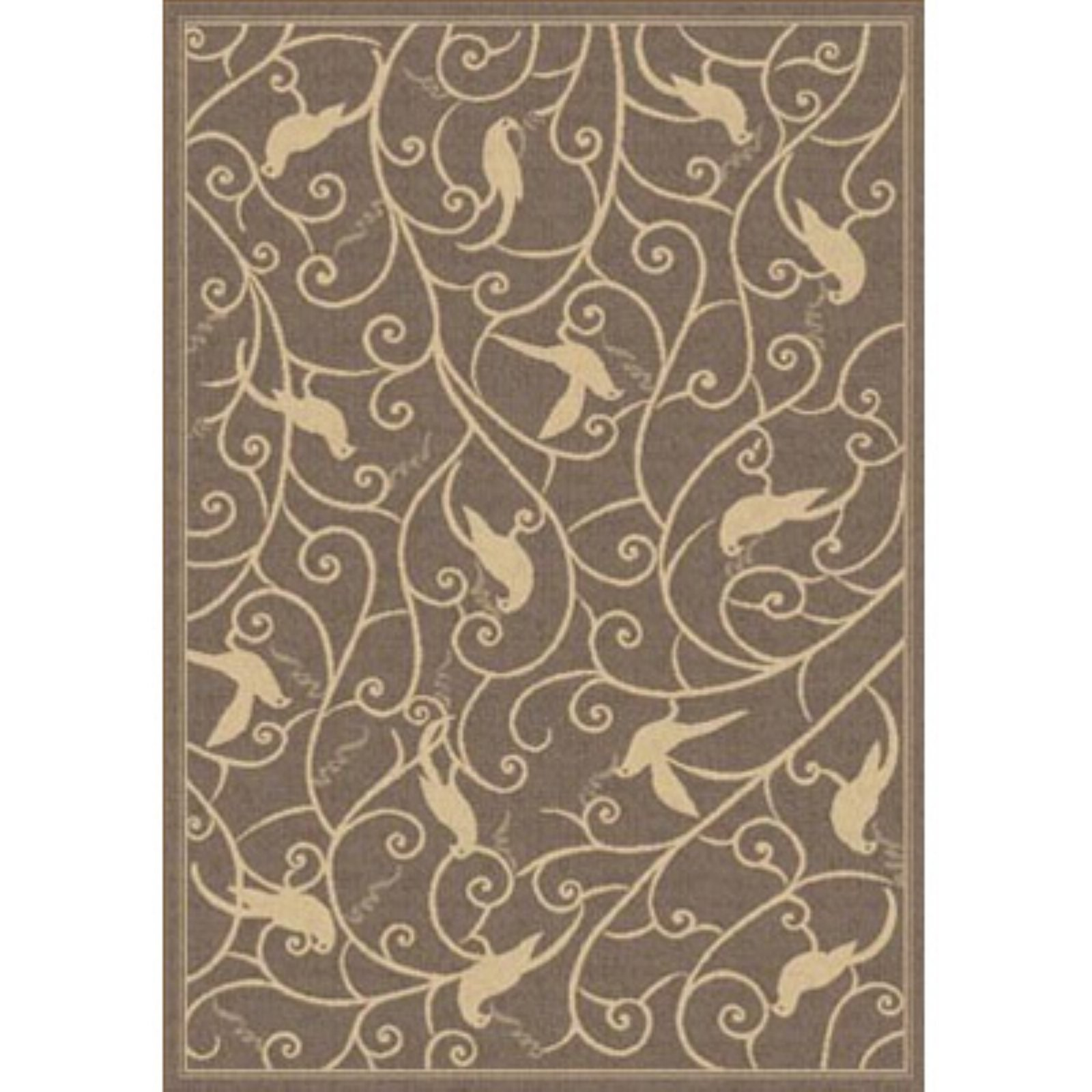 Dynamic Rugs Piazza Partridge Indoor/Outdoor Area Rug - Brown