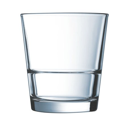 Arcoroc H5169 Stack Up 12 Oz. Old Fashioned Glass - 12 / - Arcoroc Candour Porcelain