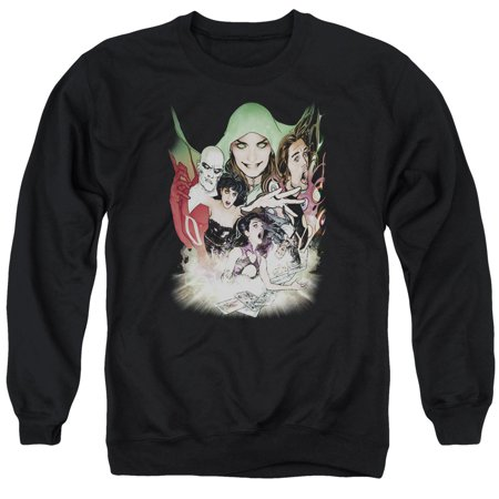 DC Comics Justice League Dark Deadman Zatanna Enchantress Adult Crew Sweatshirt - Dc Enchantress
