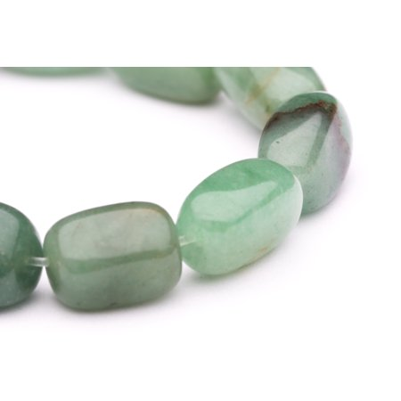 Tumbled Pebble Fine Jade Beads Semi Precious Gemstones Size: 18x11mm Crystal Energy Stone Healing Power for Jewelry Making Chinese Jade Beads Bangle