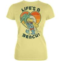 Smurfs - Life's A Beach Juniors T-Shirt