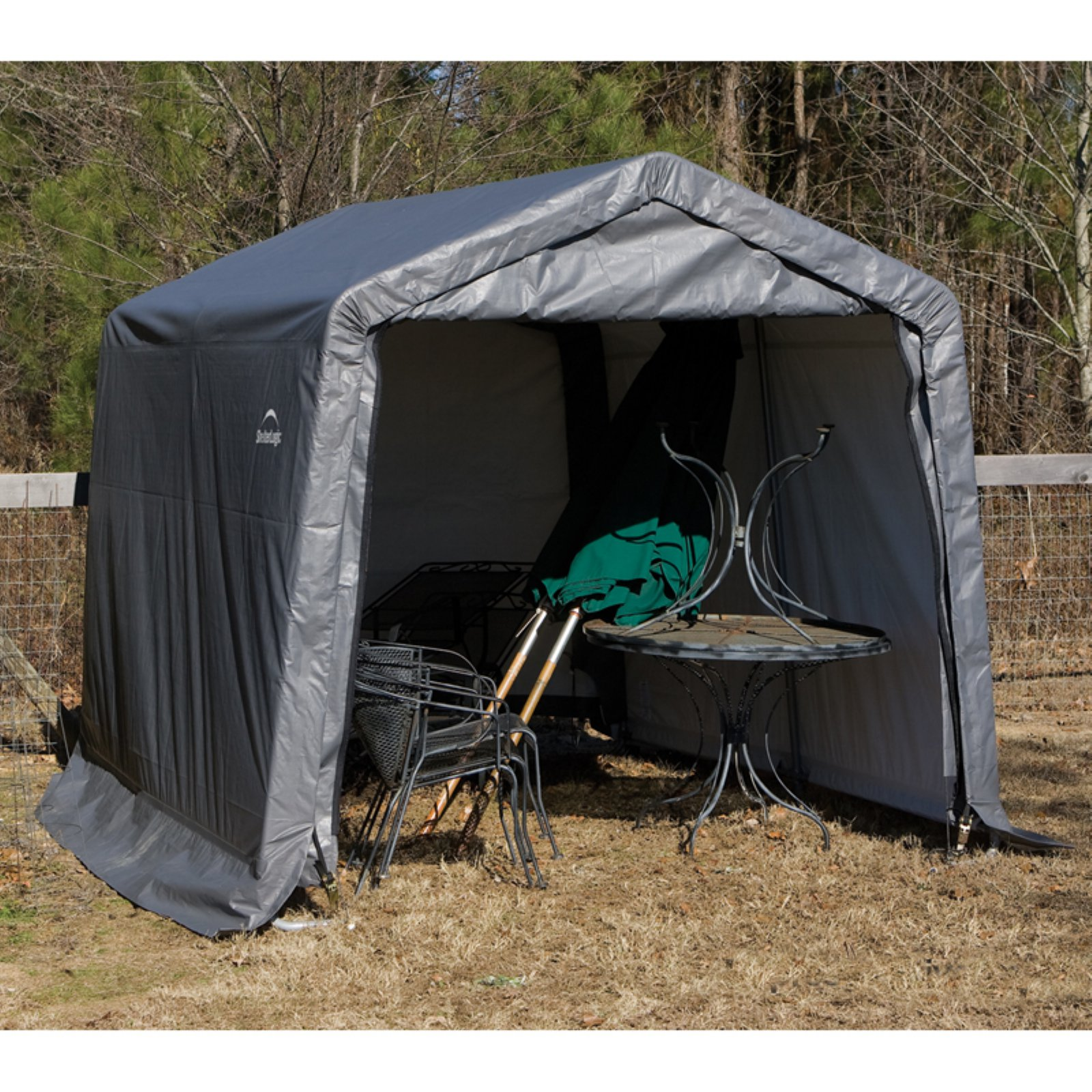 ShelterLogic ShelterCoat 11 x 12 ft. Garage Peak Gray STD