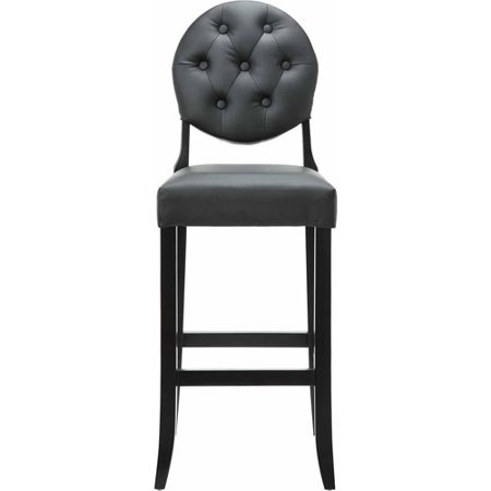 Fine Modway Button Leatherette Bar Stool With Wood Legs Multiple Colors Cjindustries Chair Design For Home Cjindustriesco