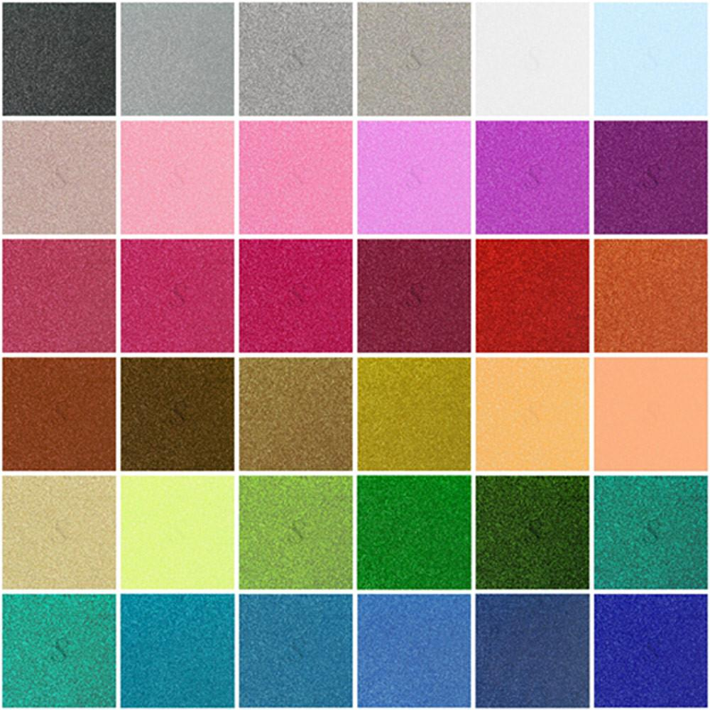 Siser Glitter Heat Transfer Material 20 in x 1 ft Sheet - 35 Colors Available