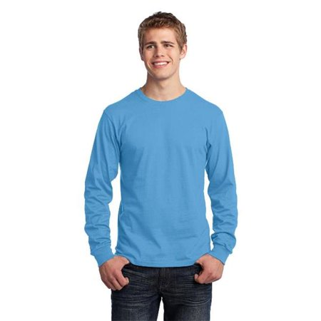 Port & Company® - Long Sleeve Core Cotton Tee. Pc54ls Aquatic Blue M - image 1 de 1