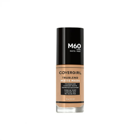 Mica Matte Foundation - COVERGIRL TruBlend Matte Made Liquid Foundation, M60 Natural Beige