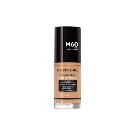 COVERGIRL TruBlend Matte Made Liquid Foundation, M60 Natural