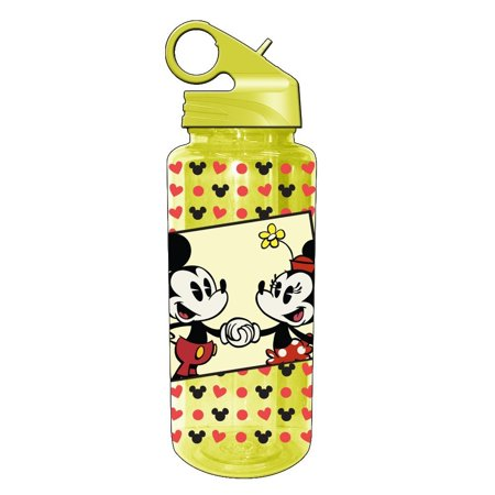 Silver Buffalo DL1164 Disney Mickey and Minnie Mouse Tritan Water Bottle, 20-Ounces