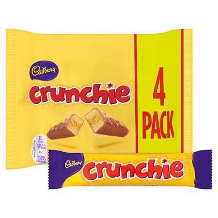 Original Cadbury Crunchie Chocolate Bar 4 Pack Imported From The UK England